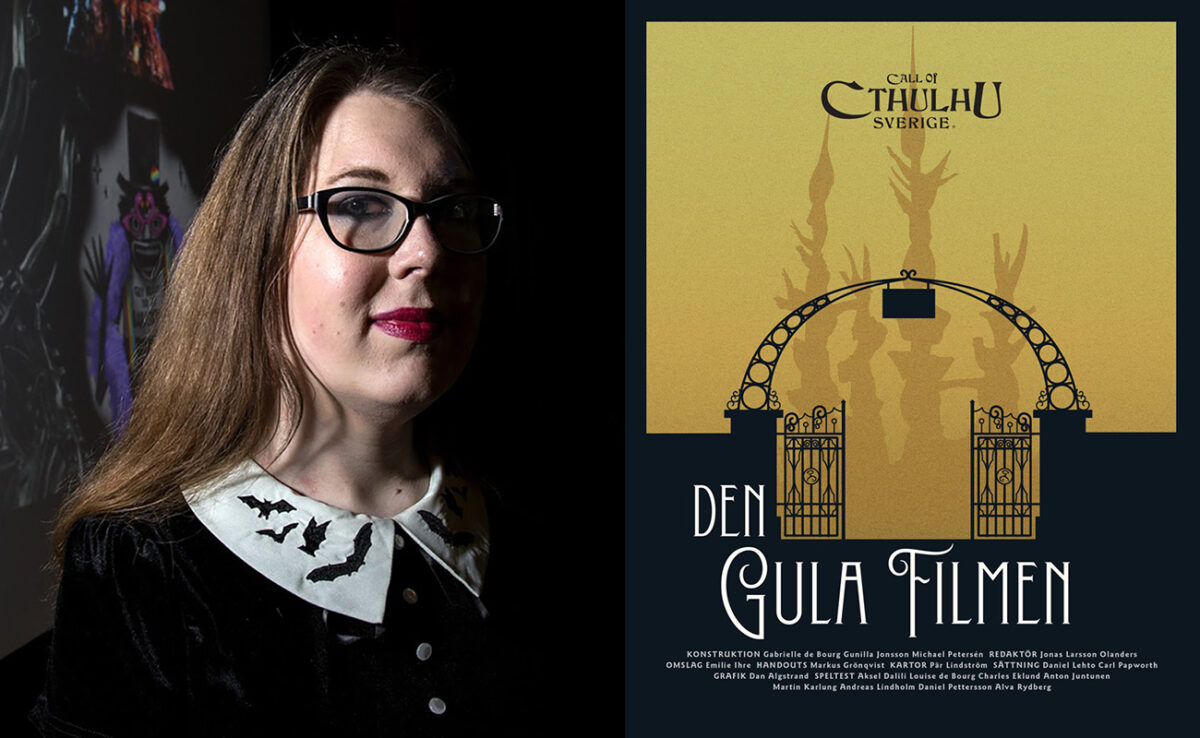 Gabrielle de Bourg är en av författarna till Den gula filmen. Foto: Fredrik Sjögren.